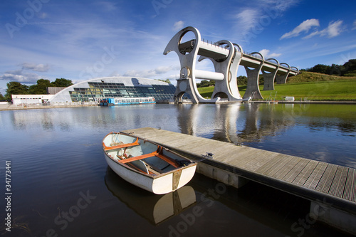 Fotobehang Kanaal The Falkirk Wheel