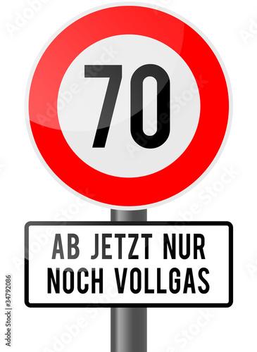 70 - ab jetzt nur noch vollgas Poster