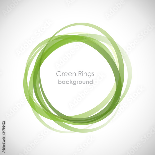 Fotografie, Obraz  Green Rings Background # Vector