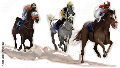 Tablou Canvas Pferderennen