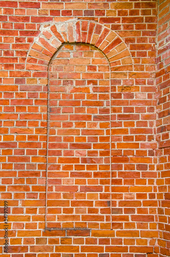 Photo sur Toile Brick wall red brick wall background