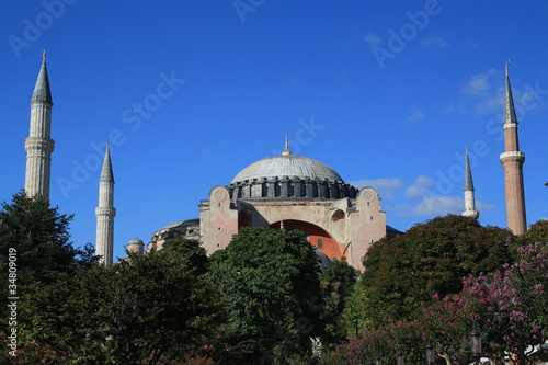 Photo  Hagia Sophia is the famous historical building of the Istanbul.