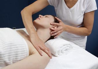 Fototapeta na wymiar massage médical