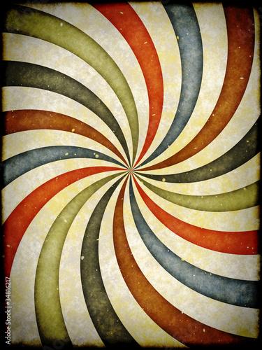 Poster Psychedelique Vintage background