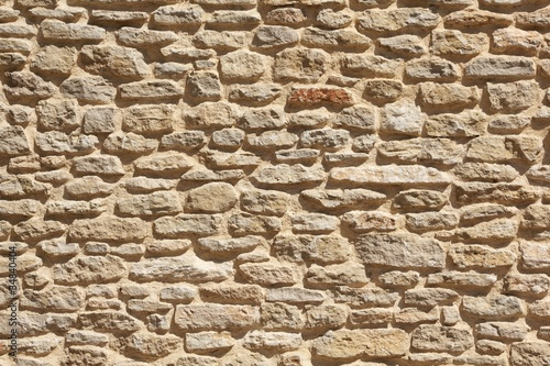 Foto op Canvas Stenen Old stone wall background