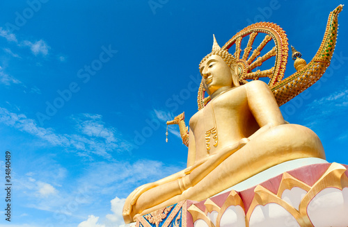 Statue of Buddha in Thailand, island Koh Samui Canvas Print