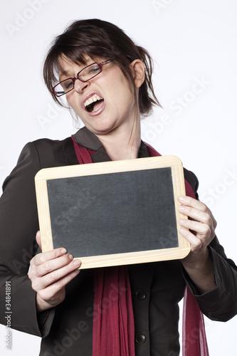 Photo  femmes d'affaires panneau publicitaire