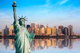 Fototapeta New York - New York statue de la Liberté