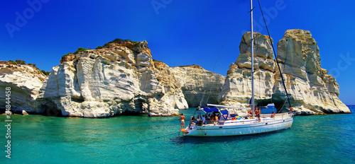 Fototapeta lato   wyspa-milos-zatoka-kleftiko