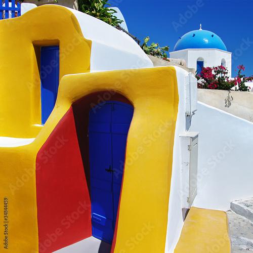 Fototapeta colors of Greece series - Santorini obraz