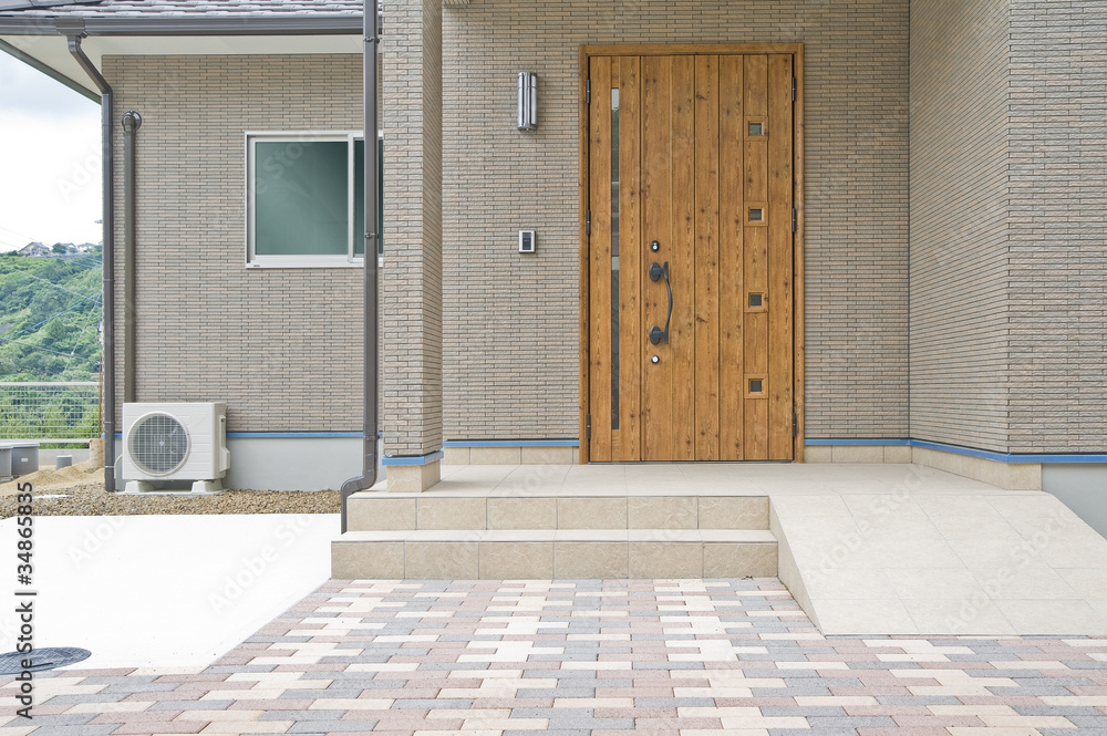 Fototapeta 住宅の玄関