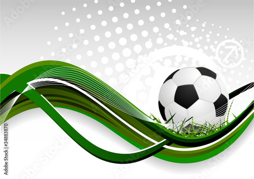 Plakat na zamówienie Abstract background with soccer ball
