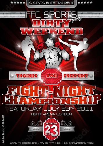 Freefight Plakat Flyer Canvas Print