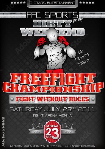 Freefight Plakat Flyer Wallpaper Mural