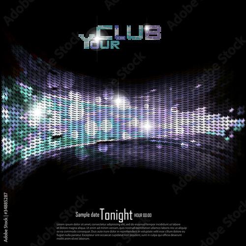 Fotografía  Disco | Club invitation background.Vector illustration.
