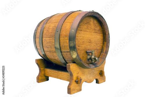 Fotografía Oak wine barrel on a wine farm in South Africa.