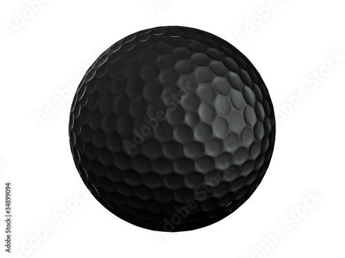 Pinturas sobre lienzo  Golf ball-black