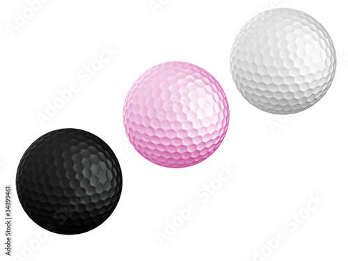 Cuadros en Lienzo colourful Golf ball