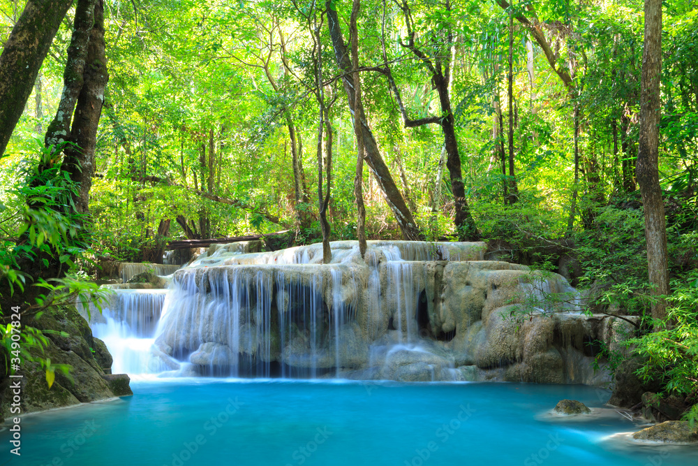 Fototapeta Erawan Waterfall, Kanchanaburi, Thailand