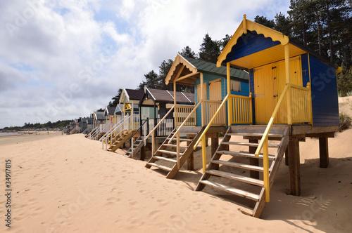 Fototapety, obrazy: Traditional Beach Huts