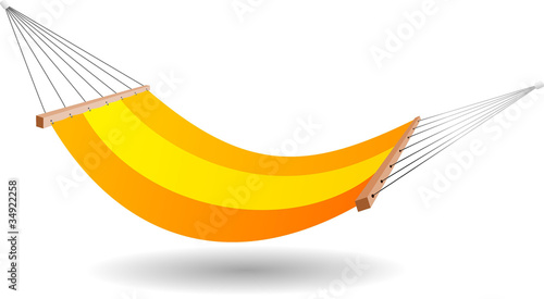 Vector illustration of a hammock