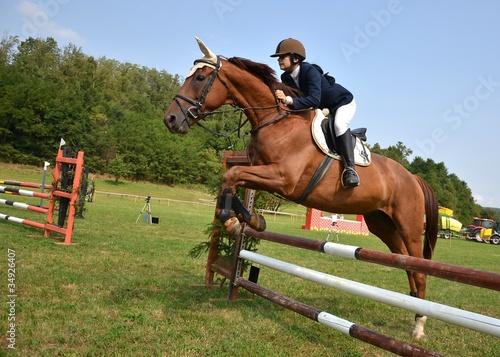 Garden Poster Horseback riding équitation