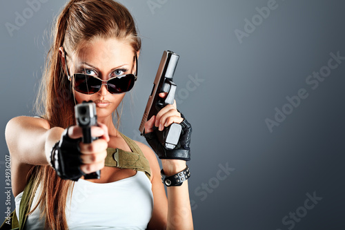 Photo  military girl
