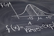 canvas print picture - Gaussian or bell curve on a blackboard