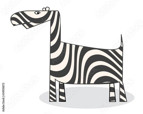 Tuinposter Zebra Clip art zebra