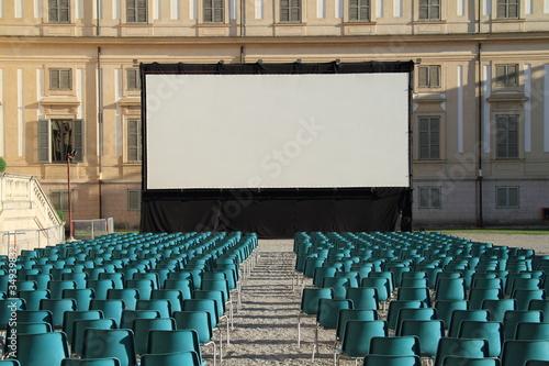 Fotografie, Obraz  Platea e schermo gigante, Villa Reale