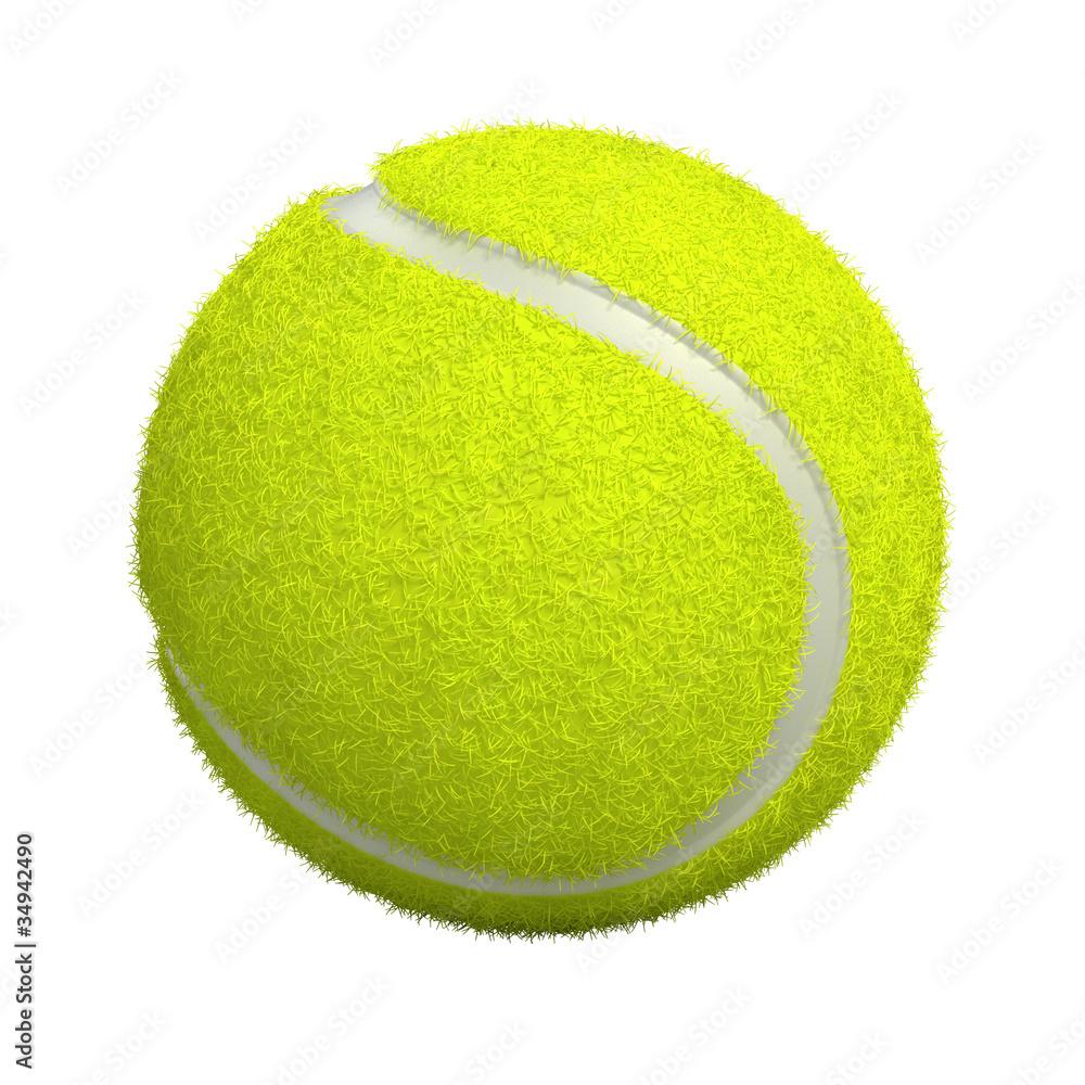 Fototapety, obrazy: Tennis ball isolated on white - 3d render