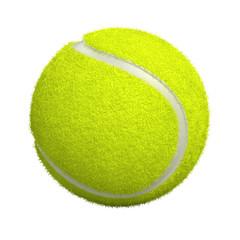 Fototapeta Tennis ball isolated on white - 3d render