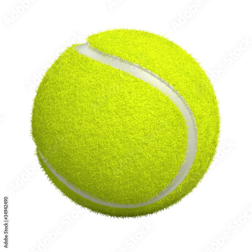 Fotografie, Obraz Tennis ball isolated on white - 3d render