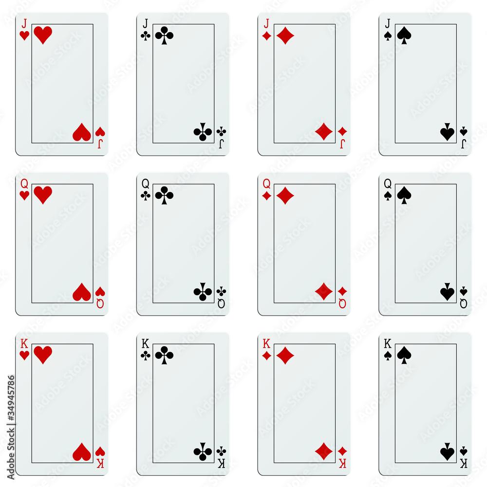 carte à jouer vierge Papier Peint Cartes à Jouer Avec Zones Vierges   Papiers Peints