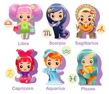 Horoscope Symbols Set Part 2