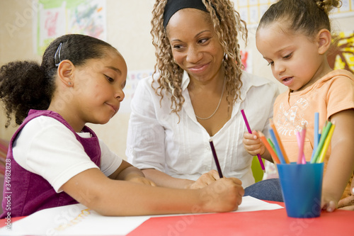 Fotografie, Obraz  L'école maternelle