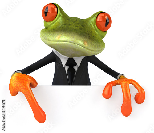 Business frog Canvas Print