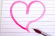 rosa Herz Liebe Pinsel malen zeichnen