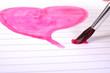 Herz Liebe Pinsel malen zeichnen