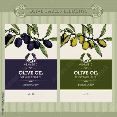 Fotografie, Obraz  Set of olive oil labels