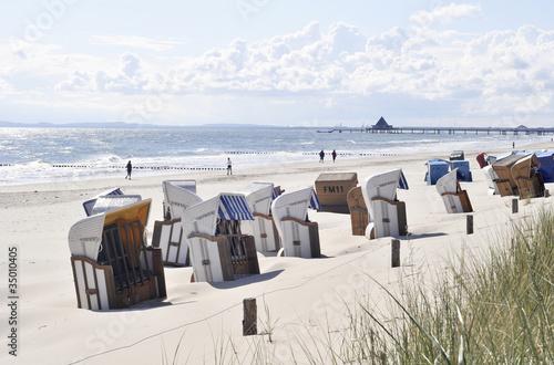 Motiv-Rollo Basic - Sommermorgen Usedom Strand