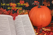 Bible Open For Religious Thanksgivings