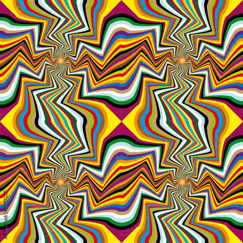 Poster Psychedelique Spinning background. Abstract background, seamless pattern