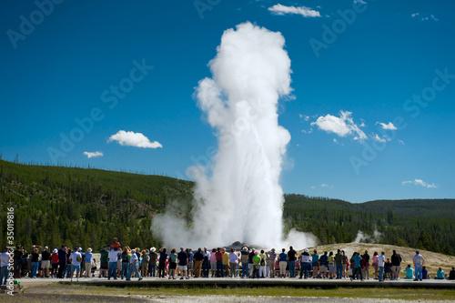Obraz na plátne Old Faithful, Yellowstone National Park, USA