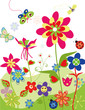 Colorful flowers set of spring