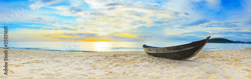 Aluminium Prints Beach Beach panorama