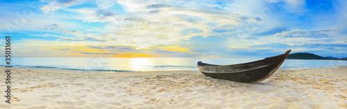 Foto-Leinwand - Beach panorama