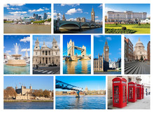 Collage Of London Landmarks