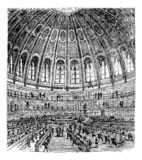 Sketch of the reading room in the British Museum in London, Unit
