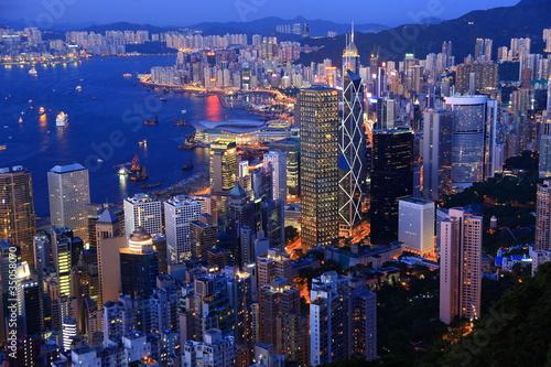 Foto op Aluminium Hong-Kong Hong Kong at dusk